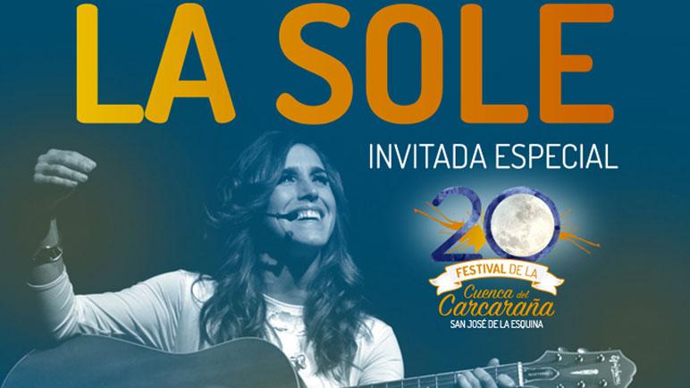 Ya está el afiche. La Sole cantará en San José en febrero.