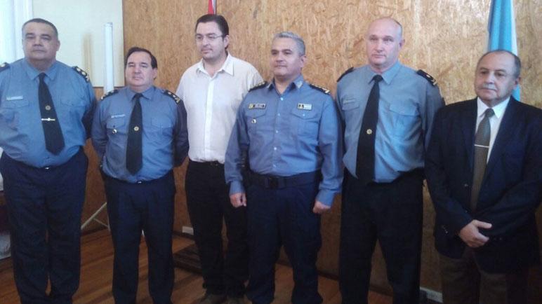 La cúpula local y el Intendente Sartasola buscan coordinar la seguridad.