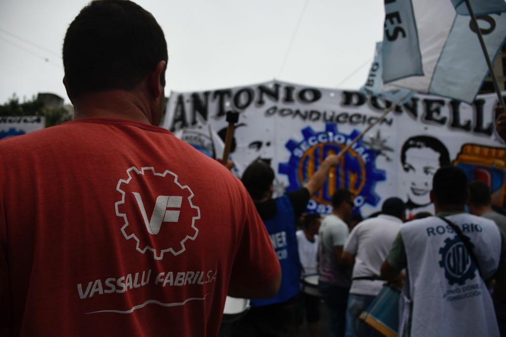 Movilización contra el despidos de trabajadores en Vasalli (Juan José García)