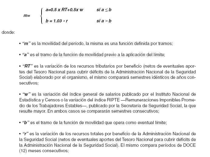 Cálculo de movilidad anterior (Fuente: Ley 26.417).
