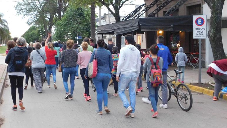 Los casildenses marcharon por las calles céntricas.
