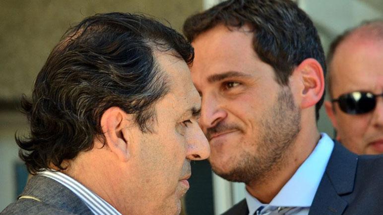 Protti y Vignatti cara a cara. El nuevo jefe comunal se quejó de estado de la Comuna.