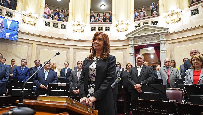 Cristina Fernández juró la semana pasada