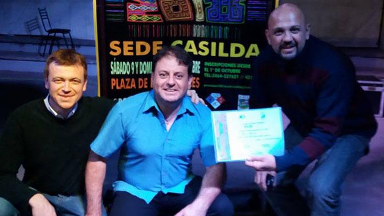 AbeCe de Los Quirquinchos, uno de los ganadores de las noches de Casilda.