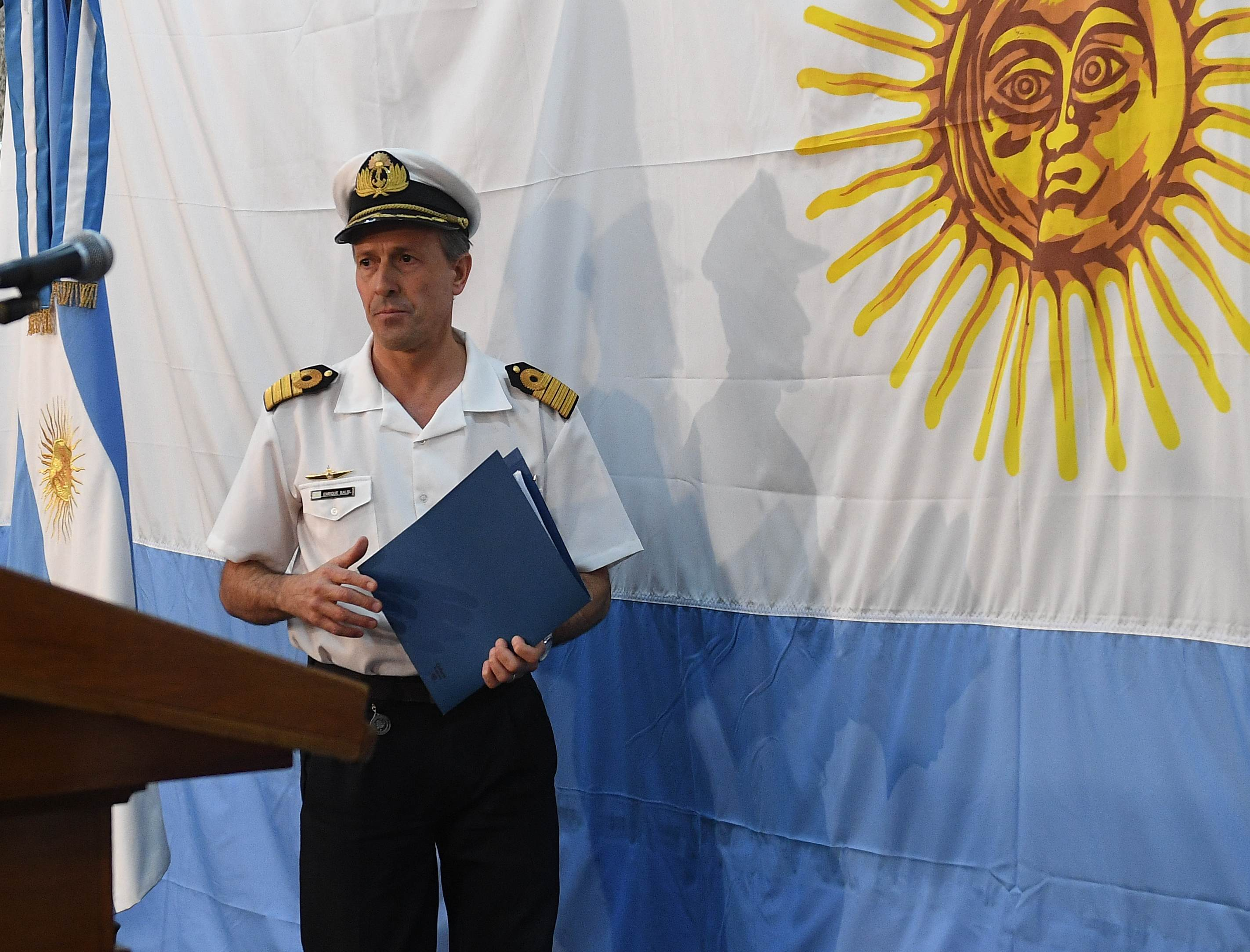 El vocero de la Armada, Enrique Balbi(Telam)