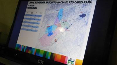 Los planos de la obra fueron dados a conocer en Arequito.