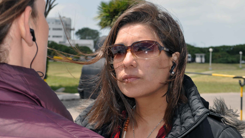 Marta, hermana del sonarista Celso Oscar Vallejos.