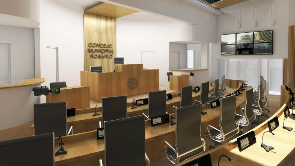 El recinto de sesiones incorporó tecnología. (Foto ilustrativa)
