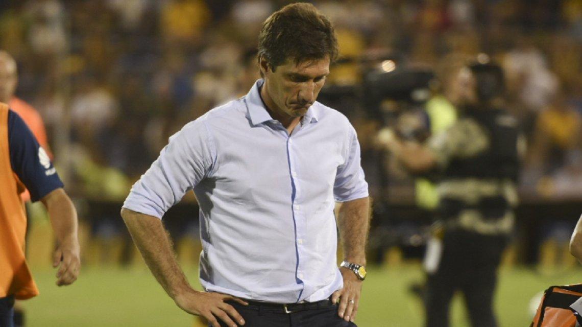 El técnico xeneizerestó importancia a las dos derrotas consecutivas en la Superliga.