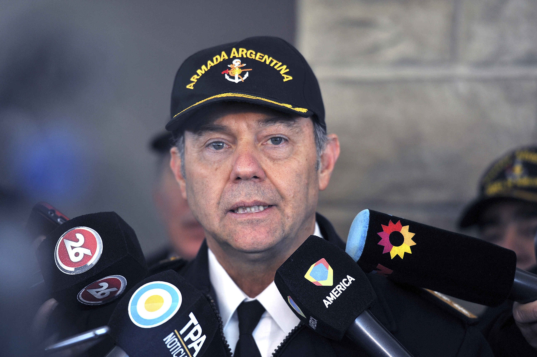 El Jefe de la base de la Armada en Mar del Plata, contralmirante Gabriel González (Telam)