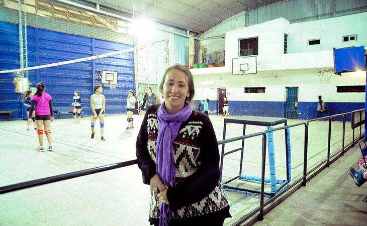 La presidenta del club Sol Nieto.