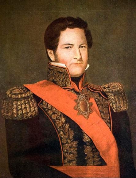"""""""Rosas el Grande"""", pintada por Gaetano Descalzi en 1841"""