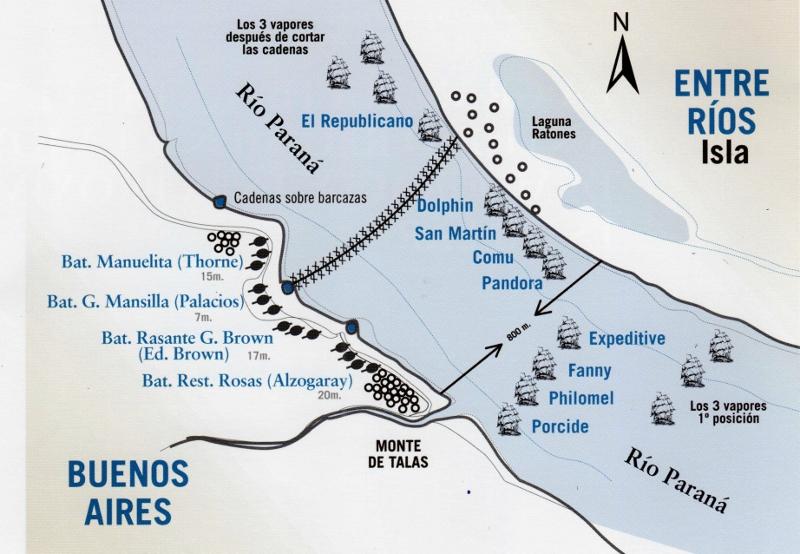 Infografía de la batalla (Municipalidad de San Nicolás)