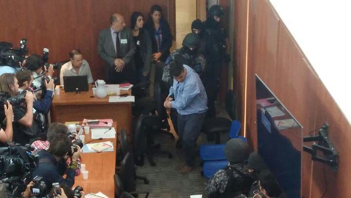 Salomón, Vilches y otros imputados presos entraron y volvieron a salir. (JJ García)