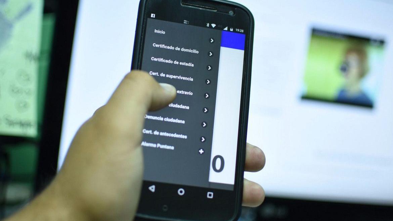 Una app para realizar las denuncias o solicitar certificados de domicilio