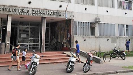 La pequeña fue trasladada al Hospital de Niños de Zona Norte.