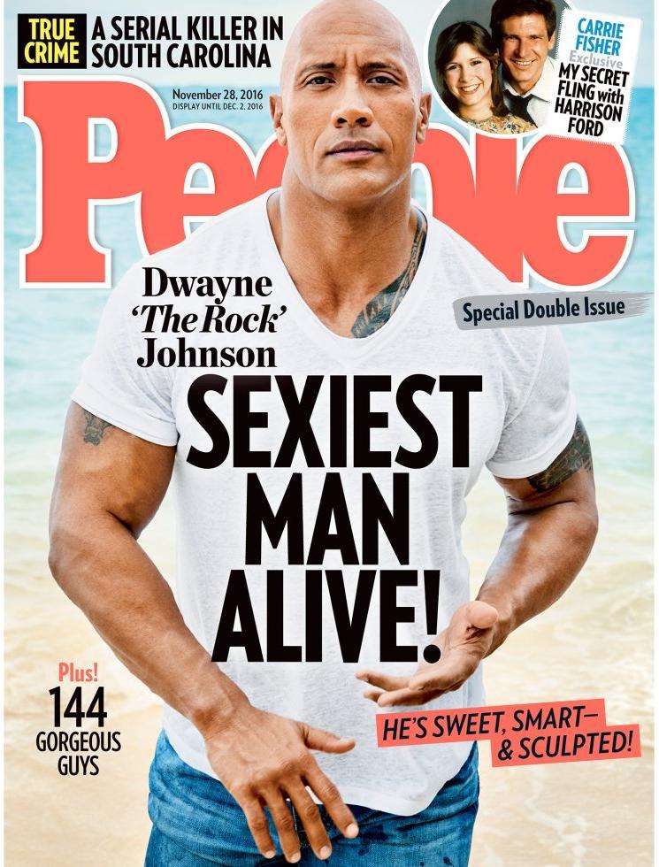 2016:Dwayne Johnson, 'La roca'.