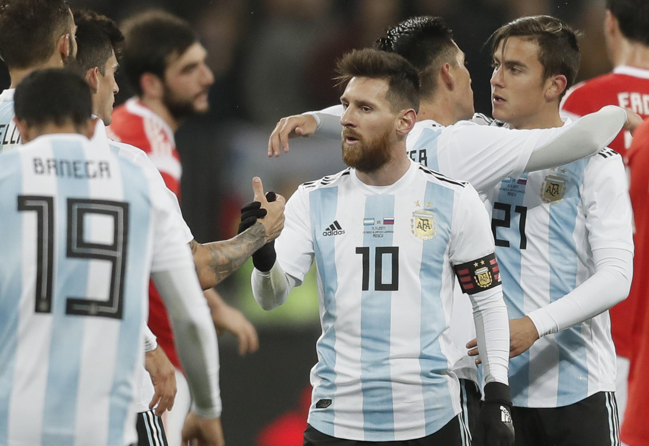 Messi, conforme con el rendimiento de la selección (EFE)