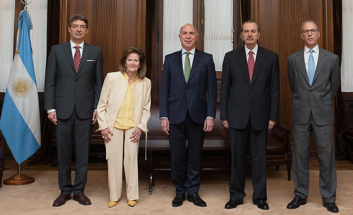 Los ministros de la Corte Suprema de Justicia de la Nación