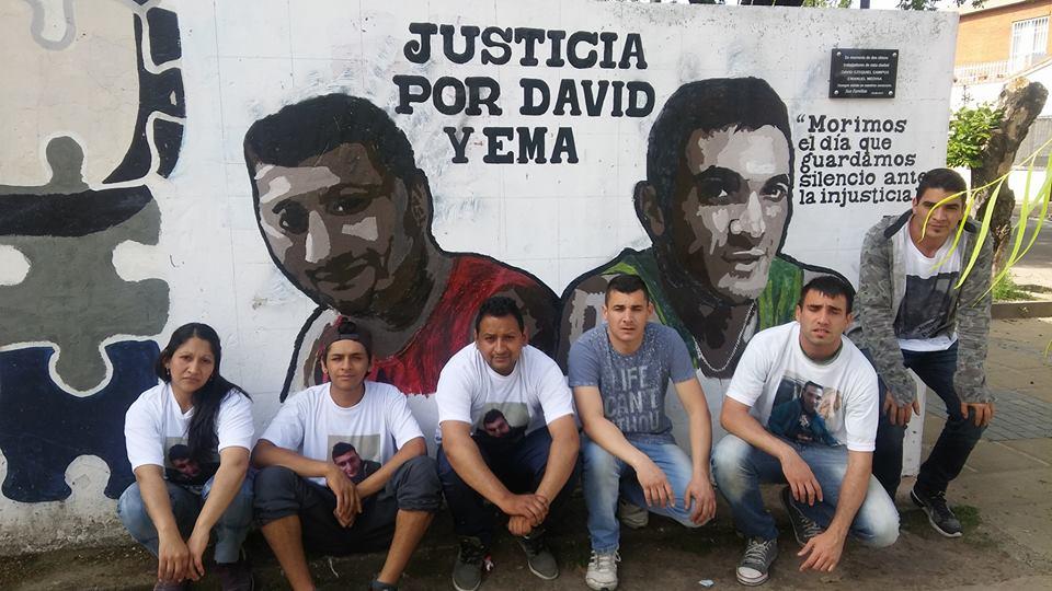 Este lunes se llevaron dos audiencias en el marco del doble asesinato (Foto: FB Justicia Por David Y Ema)