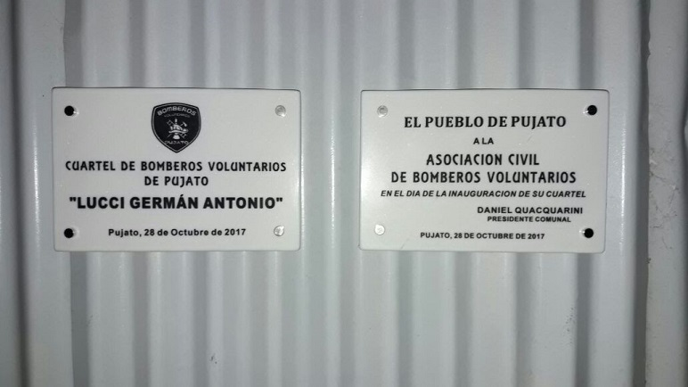 El homenaje a Germán Lucci, Jefe Regional. Foto Gaspar Dalla Valle.