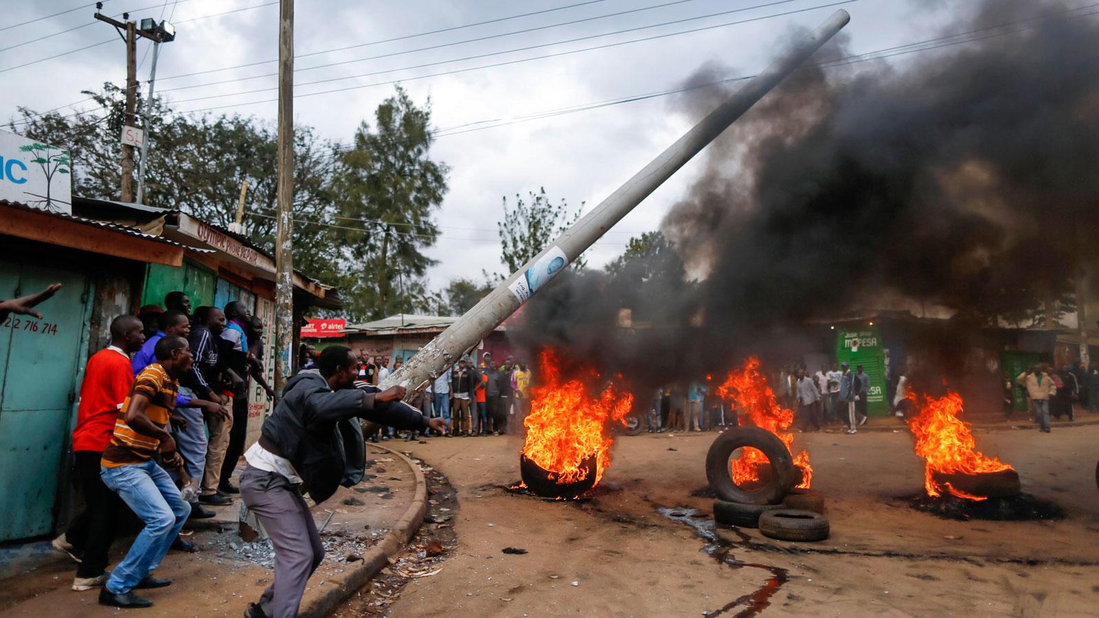 Las impactantes imágenes que muestran el caos en Kenia, previo a las elecciones
