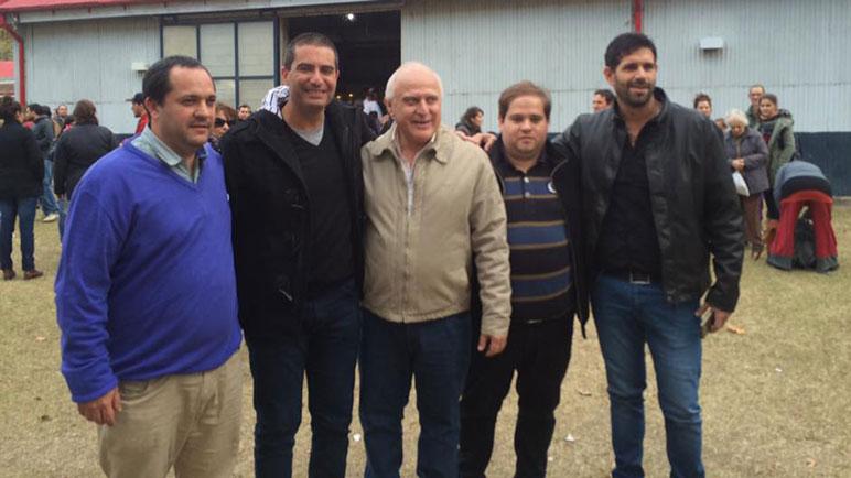 Lesgart, Cacciarelli, Ruani y Gironelli junto a Miguel Lifschitz.