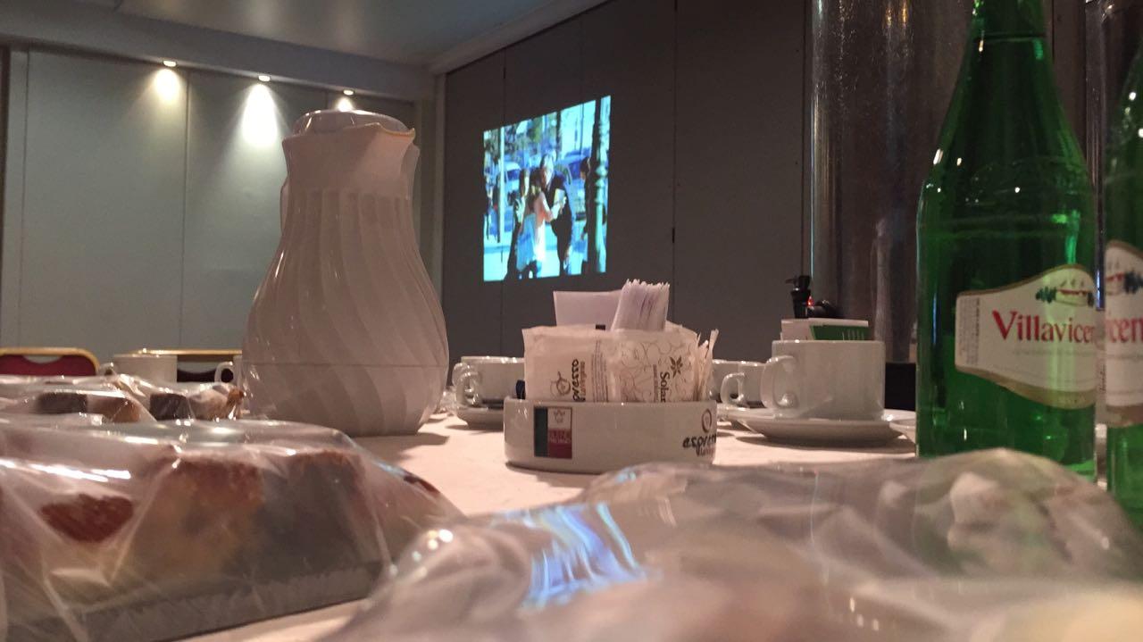 Aún plástico sobre las dulces propuestas de catering en el hotel Presidente.