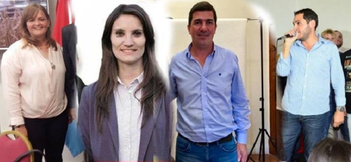 Paola Forcada, Melina Giorgi, Pablo Grgicevic y Julián Vignati. Nuevos jefes comunales.