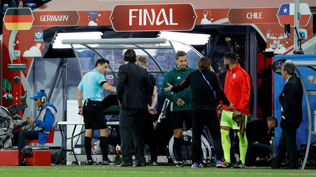 El VAR se utilizó en la final de la Copa de Confederaciones entre Alemania y Chile