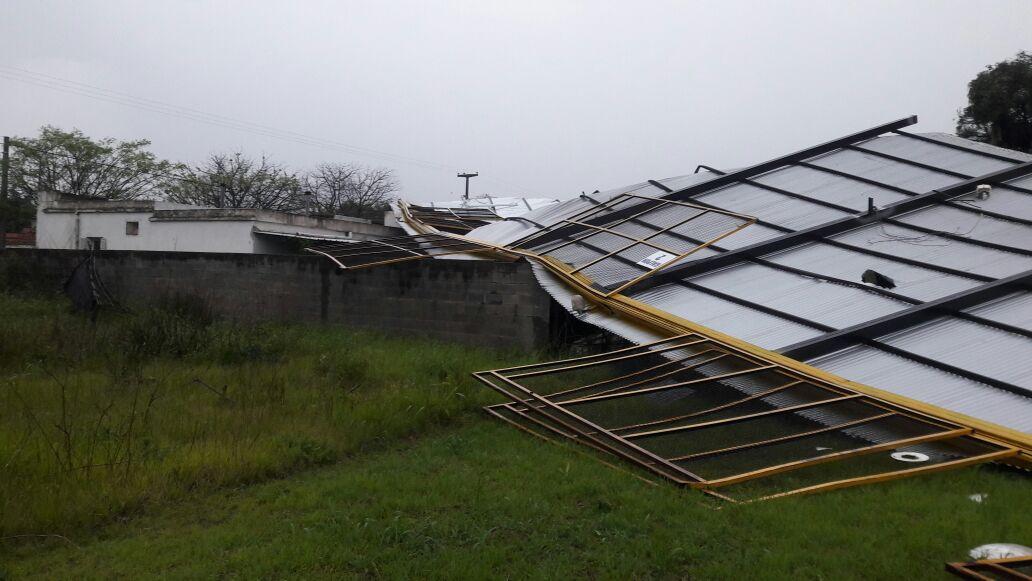 La tormenta pegó fuerte en Camilo Aldao.