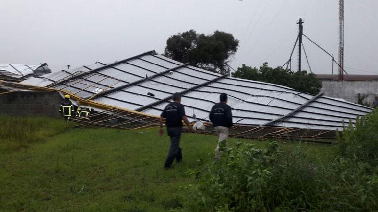 Camilo Aldao sufrió las consecuencias del temporal.