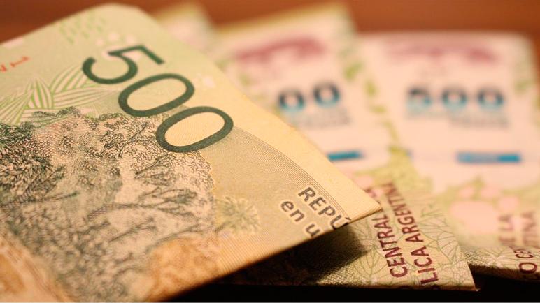 Los billetes de 500 se ven poco en los cajeros automáticos de Casilda.