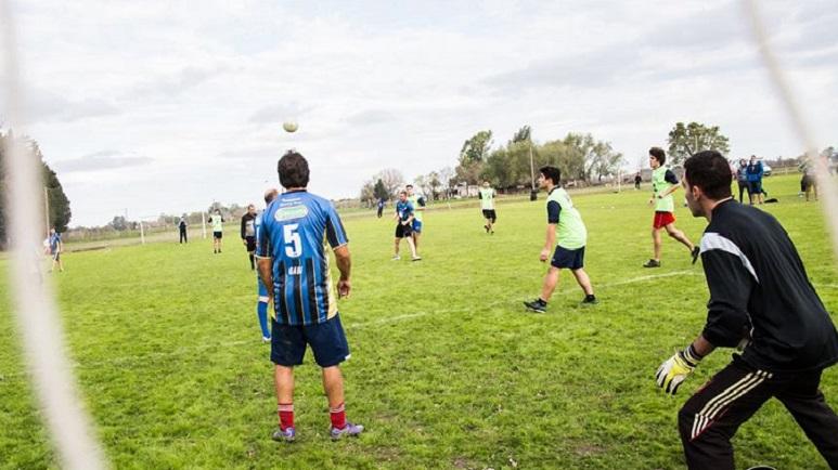 Gabriel Cejas, con la 5 en su espalda. Era un recurrente participante de la Gringa.