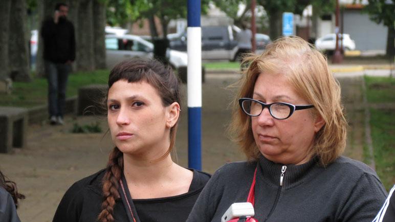Sonia Lucci (derecha), titular de la Casa de la Mujer Libre.