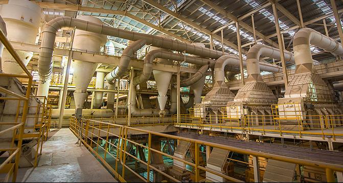 La planta Renova en Timbúes, donde murió un operario.
