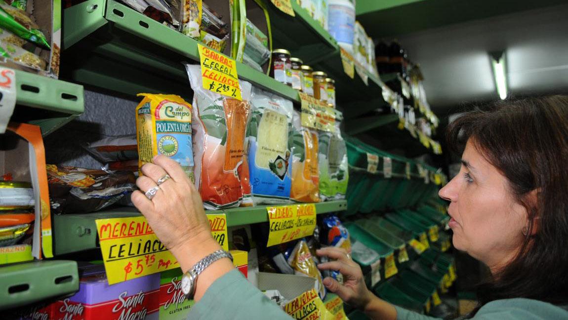 Los productos para los celíacos suelen tener un costo elevado.