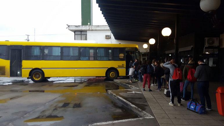 Los colectivos de la UTE ya viajan de Casilda a Rosario.