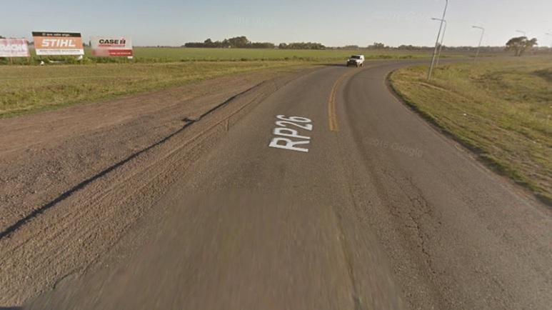 La curva de la s26. El lugar donde se dio el vuelco.
