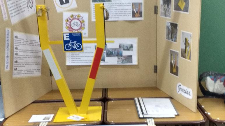 El bicicletero inclusivo se presentó en la última Feria de Ciencias.