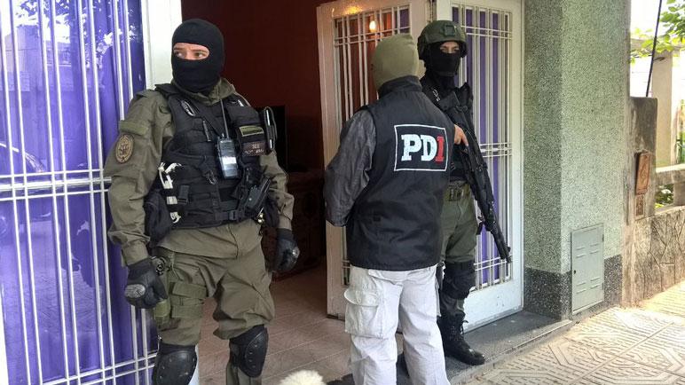 De los operativos participaron PDI de Casilda, de Rosario y Gendarmería.