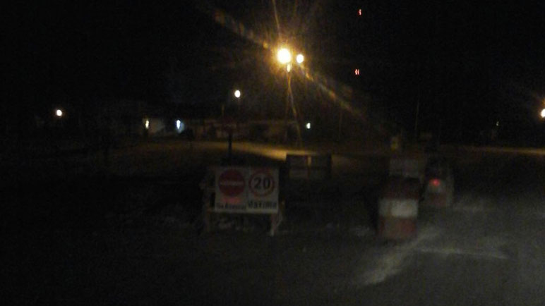 Así de poco se ve en el cruce de la ruta 33 y el Bv Tomat.
