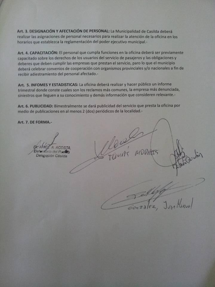El escrito con la firmas.