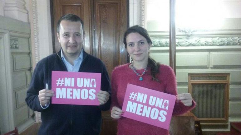 Del Frade y Meier abarzan la causa de #NiUnaMenos.
