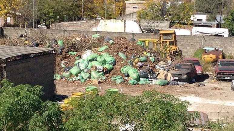 La imagen del depósito donde se acumulan deshechos.