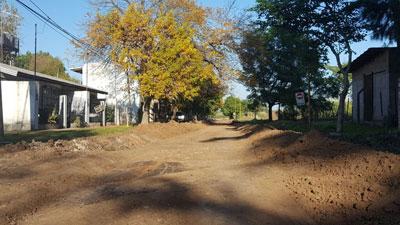 La Municipalidad realizó trabajos de mejorado en Barracas.