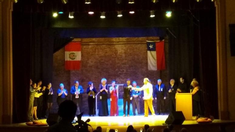 El sábado, el Dante fue testigo de un certamen internacional de tango.
