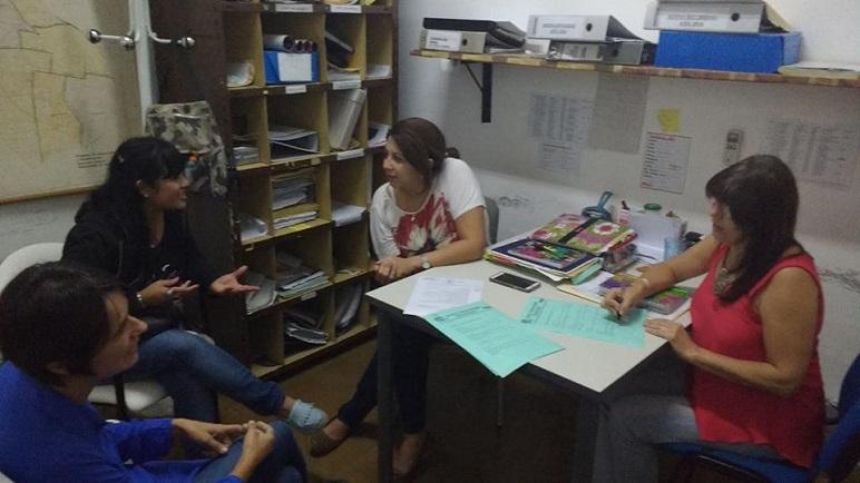 Las delegadas del Hospital San Carlos junto a las coordinadoras.