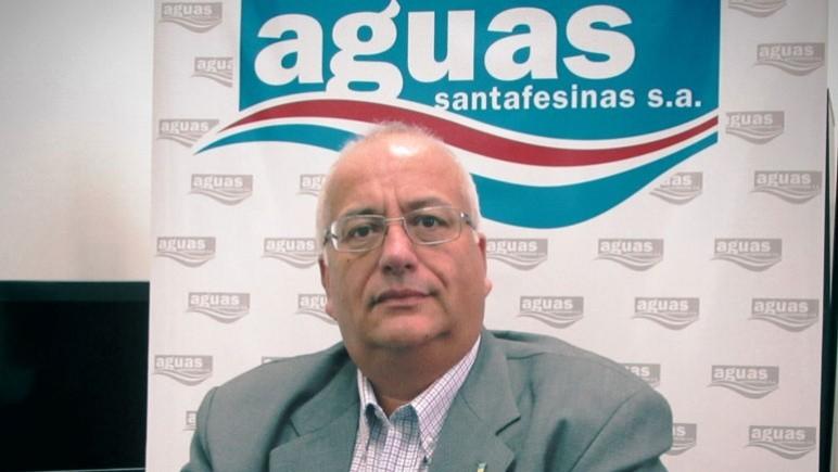 Emilio Flamini, titular de Aguas Santafesinas en Casilda.