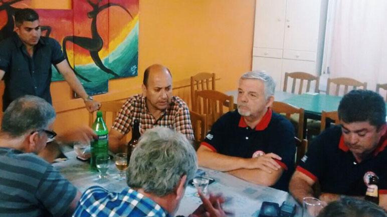 La reunión de autoridades en Carcarañá.